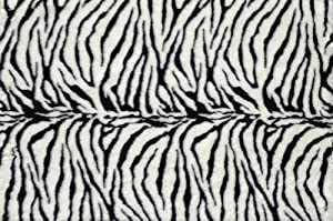 """2' x 3' Rectangular Oscar Isberian Rugs Accent Rug Zebra Color Hand Tufted China """"Danso Collection"""""""