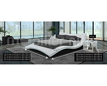 lit design blanc gloria gloria 160cmx200cm avec matelas. Black Bedroom Furniture Sets. Home Design Ideas