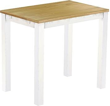 Brasil High Table 'Rio' 120x 80cm Solid Pine Wood Colour–White