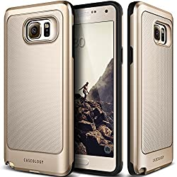 Galaxy Note 5 Case, Caseology [Vault Series] [Gold] Slim Design Rugged Protective Armor Cover [Active Armor] for Samsung Galaxy Note 5