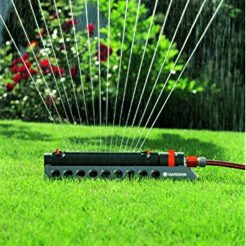 GARDENA 1973 Aquazoom 2700-Square Foot Oscillating Sprinkler with Fully Adjustable Width Control