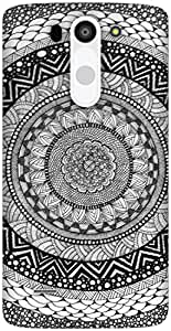 The Racoon Grip Mandala hard plastic printed back case / cover for LG G3 Beat