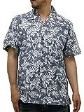 (ルーシャット) ROUSHATTE アロハシャツ 半袖 大きいサイズ ハイビスカス 3L クラシックブルー