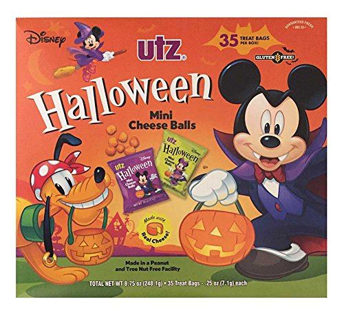 UTZ MINI CHEESE BALLS SNACK SIZE 35 BAGS MICKEY MOUSE & FRIENDS GLUTEN FREE NIB