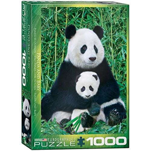 Animal Jigsaw Puzzles -Panda and Baby 1000 Piece Jigsaw Puzzle