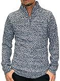 (ルイシャブロン) Louis Chavlon ニット メンズ ハーフジップ セーター 杢 リブ編み 4color M ブラック