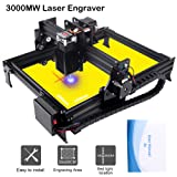 3000mw Upgrade Laser Engraver CNC Engraving Machine DIY Pro Engraver Router Printer Supporting Computer/Offline/Bluetooth Control for Handicraft Wood Desktop cenoz (JTL1 Working Area :200mm x290mm) (Tamaño: JTL1)