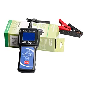 12V 100-1700 CCA Automotive Battery Load Tester Car Cranking and Charging Starter Analyzer for Heavy Duty Trucks, Cars, Motorcycles and More