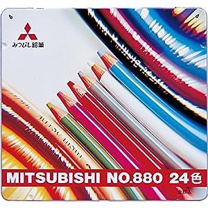 三菱鉛筆 色鉛筆 880級 24色 K88024CP