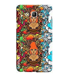 Omnam Girl In Three Pose Effect Printed Designer Back Cover Case For Samsung Galaxy On 5