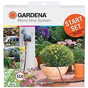 Gardena 1398 Micro-Drip Watering Starter Kit With Timer