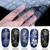 108Pcs-3D-Silver-Flower-Nail-Art-Stickers-Decals-Stamping-DIY-Decoration-Tools