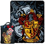 """Warner Brothers """"Harry Potter, Gryffindor Lion"""" Silk Touch 40 by 50-Inch Throw with Reusable Canvas Tote Set"""