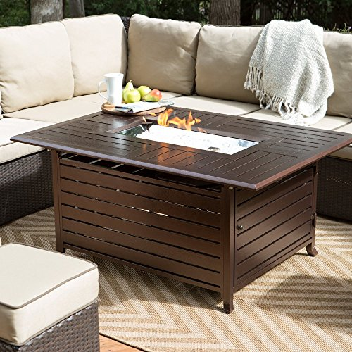 AZ Patio Aluminum Slatted Fire Pit with Stainless Steel Propane Burner - Fire Pits WebNuggetz.com