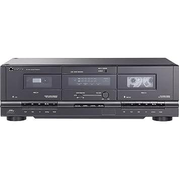 Lecteur de cassettes renkforce TP-1000 noir