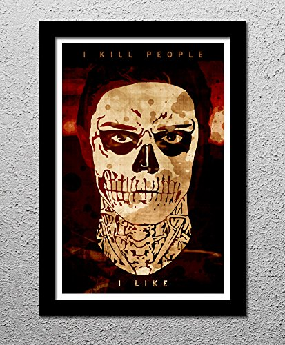 Tate - American Horror Story - Evan Peters - Murder House - Original Minimalist Art Poster Print