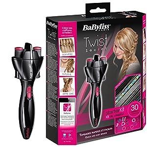 BaByliss Twist Secret - Trenzador con kit de accesorios, color rosa