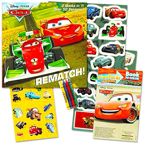 Disney Cars Activity Books Super Set Story Book Over 60 Stickers Fun Size Coloring Book