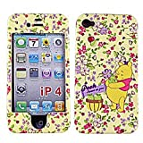 【iPhone4S 対応】日本未発売  iPhone4 USAディズニー オフィシャル ハードケース くまのプーさん フラワー