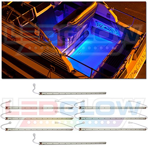 8Pc Blue Led Boat Deck & Cabin Lighting Kit