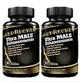 Male Sexual Enhancement Pills - 2PK Testosterone Booster, Male Enhancement, Boost Libido, Performance, Stamina Sex Drive, Enlargement Pills for Men
