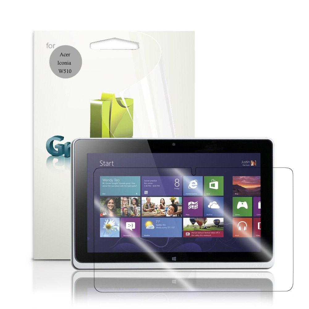 GreatShield Ultra Smooth Crystal Clear Screen Protector Film for Acer Iconia W510 Tablet (3 Pack) at Sears.com