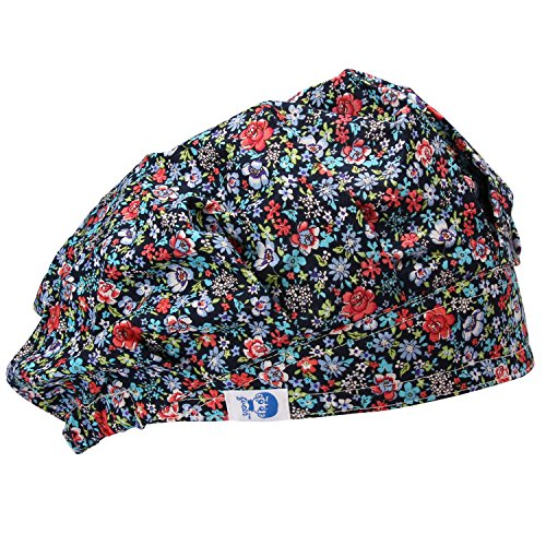 Tommhanes Scrub Cap Surgical Scrub Hats Bouffant Scrub Cap One Size Black (Bouffant Cap For Restaurant compare prices)