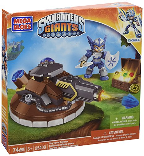 Mega Bloks Skylanders Giants Sky Turret Defence with Chill figure. Imported from UK. - 1