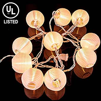 KI Store@ Chinese / Japanese Round Paper Lanterns String Lights for Wedding Party House ...