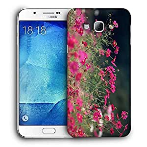 Snoogg Multiple Flowers Printed Protective Phone Back Case Cover For Samsung Galaxy A8