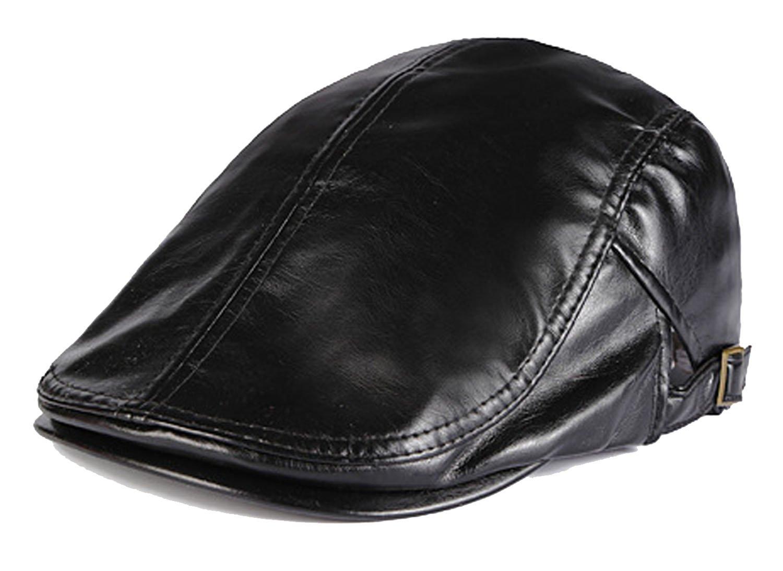 Allmill Men Pu Leather Duckbill Cap Vintage Ivy Newsboy