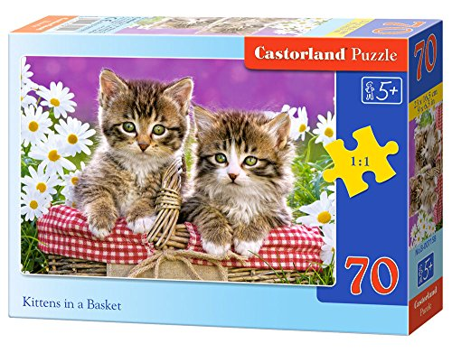 Castorland Kittens in a Basket Jigsaw (70-Piece) - 1