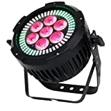 Hooye Stage Lights 7x12w RGBW+UA 6in1 Led Flat Par Light Projector Light For Wedding Party