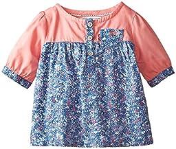 Levi\'s Baby Girls Shirt, Summer Coral, 6-9 Months