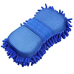 Car Microfibre Chenile Duster With Sponge & Grip. 2 in 1. Car Accessories. Useful for cleaning Car, Glass, Motorcycle, Bike, Mirror, Tile Etc.