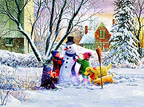 Snowman and Friends 1000 Pc Jigsaw Puzzle by Sunsout