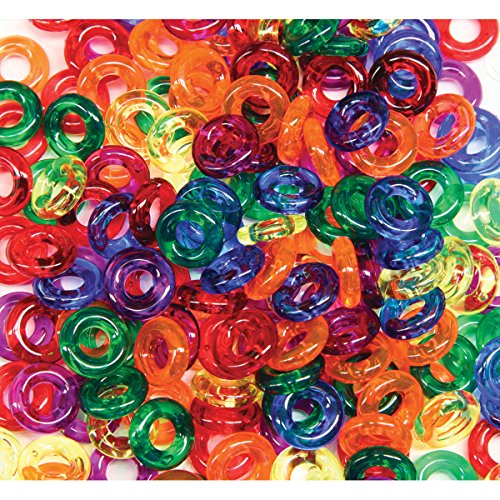 Creativity Street Stringing Ring Beads Bag, 6-Ounce, Assorted Colors