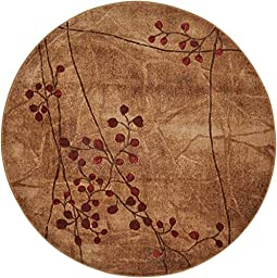 Nourison Somerset (ST74) Latte Round Area Rug, 5-Feet 6-Inches by 5-Feet 6-Inches (5\'6\