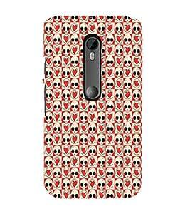 ifasho Designer Phone Back Case Cover Motorola Moto X Style :: Moto X Pure Edition ( Royal Blue Flower Pattern Design )