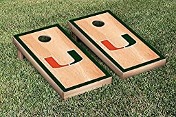 Miami Hurricanes Cornhole Game Set Hardcourt Version