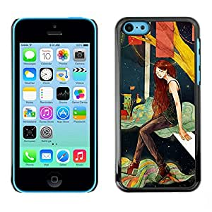 Omega Covers - Snap on Hard Back Case Cover Shell FOR Apple iPhone 5C - Deep Girl Alone Night Artistic