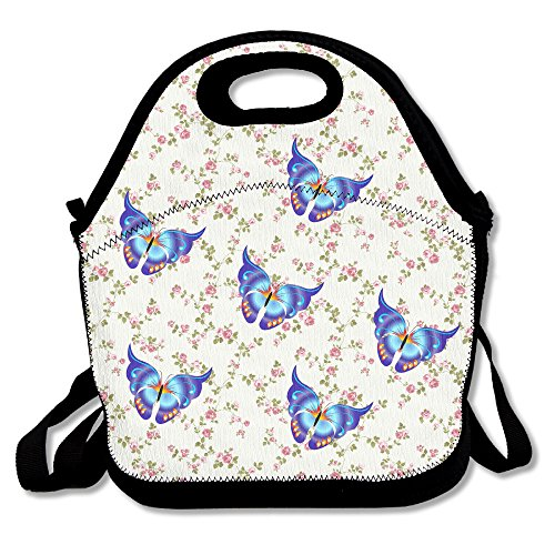 [Oery Butterfly Group Cooler Lunch Bag Outdoor Picnic Bag] (Matt Smith Halloween Costume)