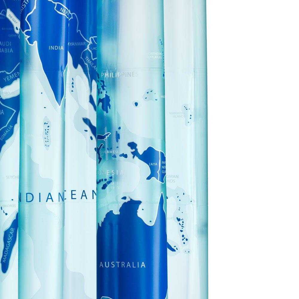Croydex - Cortina de ducha, diseño de mapamundi   Revisión del cliente y la descripción más