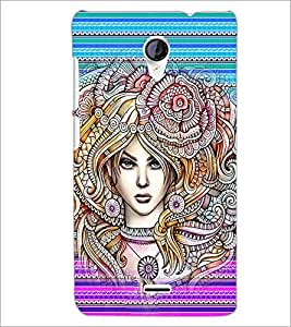PrintDhaba Fantasy Girl D-6005 Back Case Cover for MICROMAX A106 UNITE 2 (Multi-Coloured)