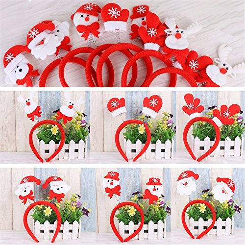 Festa di Natale Decorazioni di Natale regalo Decor?accogliente romanticismo di Natale a tutti è di cadere in amore con nel 2016,natale Hairbands Christmas Party di materiali di consumo (10pcs/Set),Testa Xiong