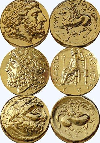 Zeus, roi des dieux, les dieux grecs & les déesses pièce Collection, (lot de 3G)