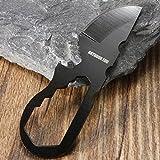 BephaMart Multi-Functional Stainless Steel Pocket Tool Bottle Opener Crowbar Wrench Screwdriver Keychain