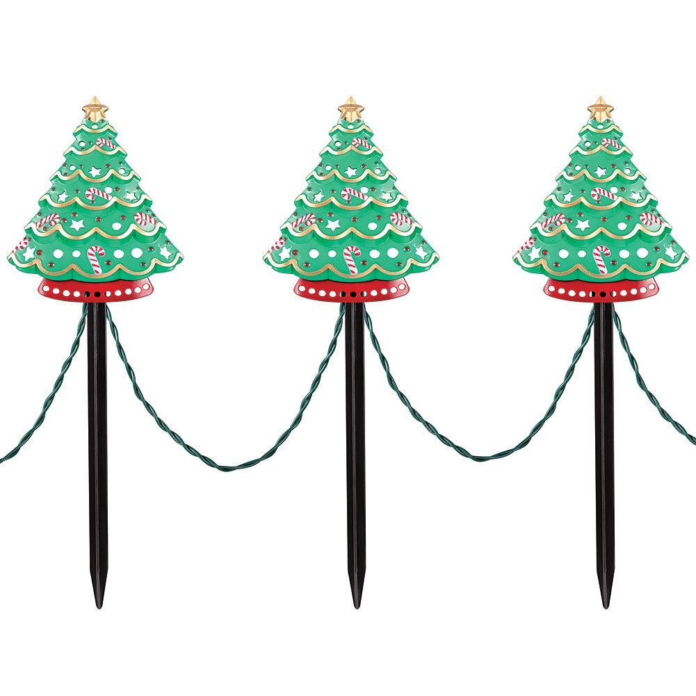 Stake Christmas Trees: Christmas Trees Pathway Lights