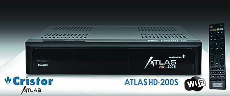 Cristor Atlas HD-200S Récepteur satellite Wi-fi Noir (Import Europe)