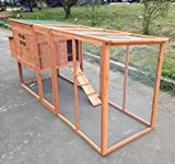 "ChickenCoopOutlet Large 95"" Deluxe Solid wood Hen Chicken Cage House Coop Huge with Run nesting box"